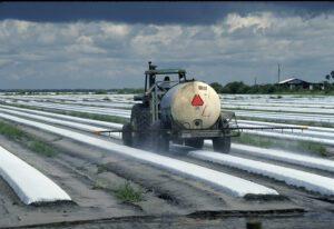 Foto van insecticiden die in de landbouw worden gebruikt