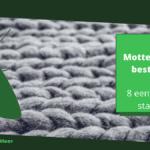 Motten in wol bestrijden: 8 eenvoudige stappen