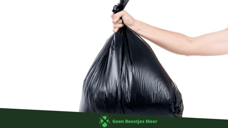 Zorg voor een goed afsluitbare afvalbak.